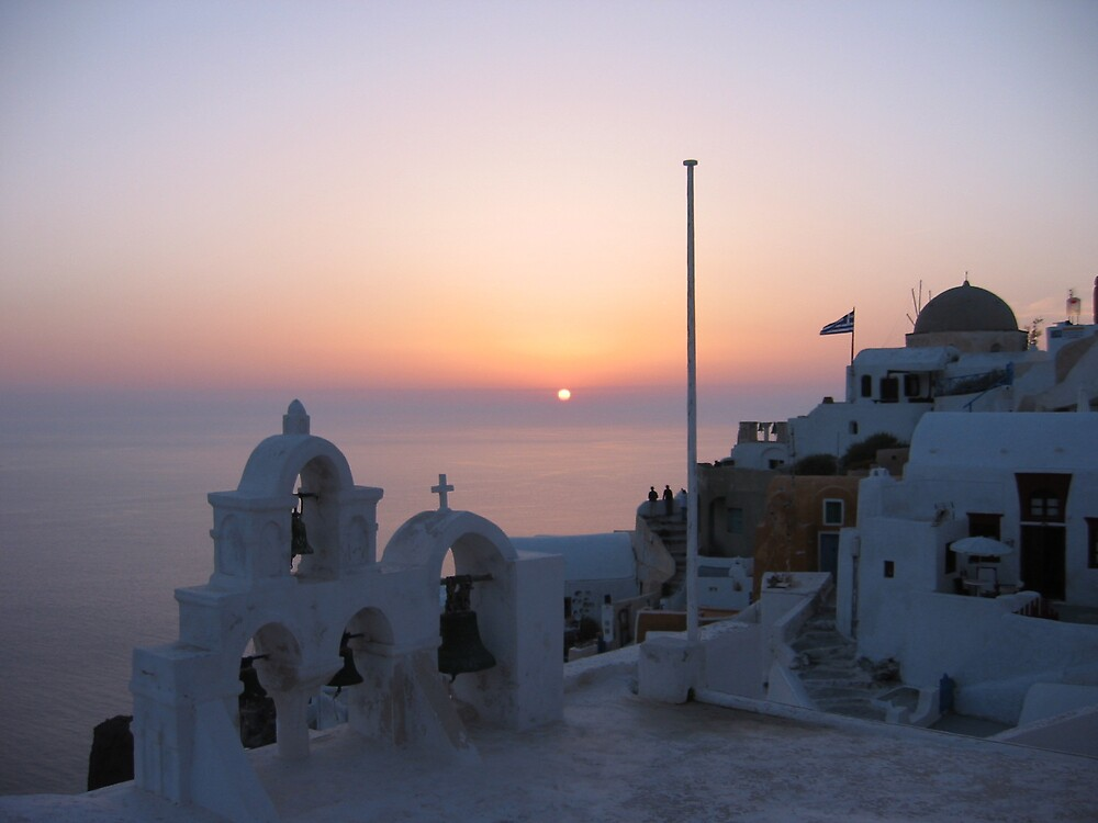 Santorini at dusk by mypics4u