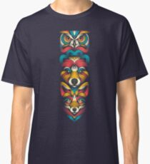 Forest Animals Totem Classic T-Shirt