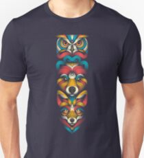 Forest Animals Totem Unisex T-Shirt