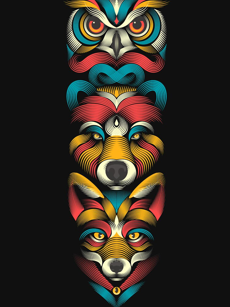 Forest Animals Totem by PAgata