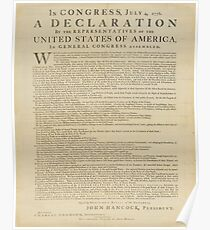 Declaration of Independence Text Poster