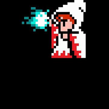 8 Bit White Mage by bamseyboy