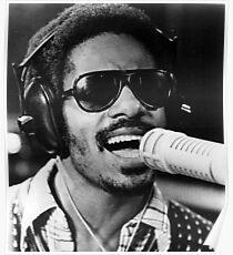 Stevie Wonder (Public Domain Photo) Poster