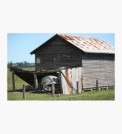 farmscapes #66, old drying shed Photographic Print