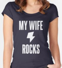 My Wife Rocks Women's Fitted Scoop T-Shirt