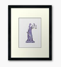 Lady Justice  watercolor 121017 Framed Print