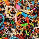 Coloured beads, Victor's Way, Roundwood, County Wicklow, Ireland by Andrew Jones