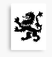 Lion heraldry Canvas Print