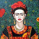 Frida,  Queen of Hearts closer I by Madalena Lobao-Tello
