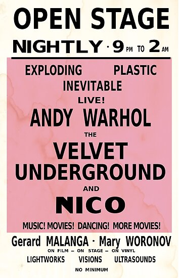 VELVET UNDERGROUND NICO ANDY WARHOL VINTAGE POSTER\