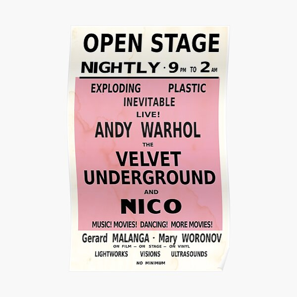VELVET UNDERGROUND NICO ANDY WARHOL VINTAGE POSTER Poster