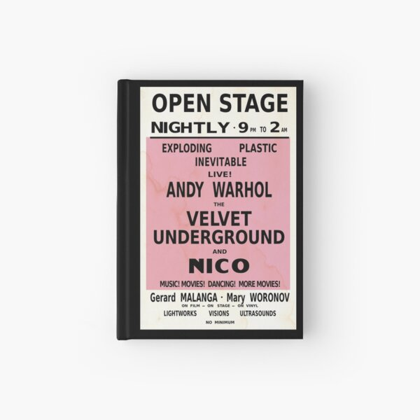 VELVET UNDERGROUND NICO ANDY WARHOL VINTAGE POSTER Hardcover Journal