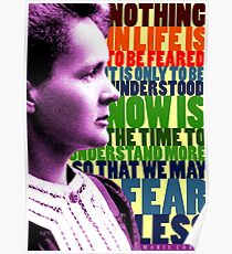 Marie Curie Inspirational Quote Poster