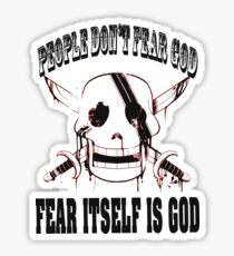 one piece tshirt Sticker