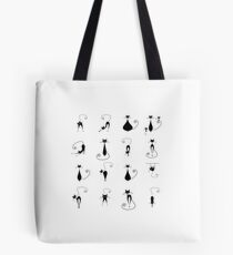 Black cats collection Tote Bag