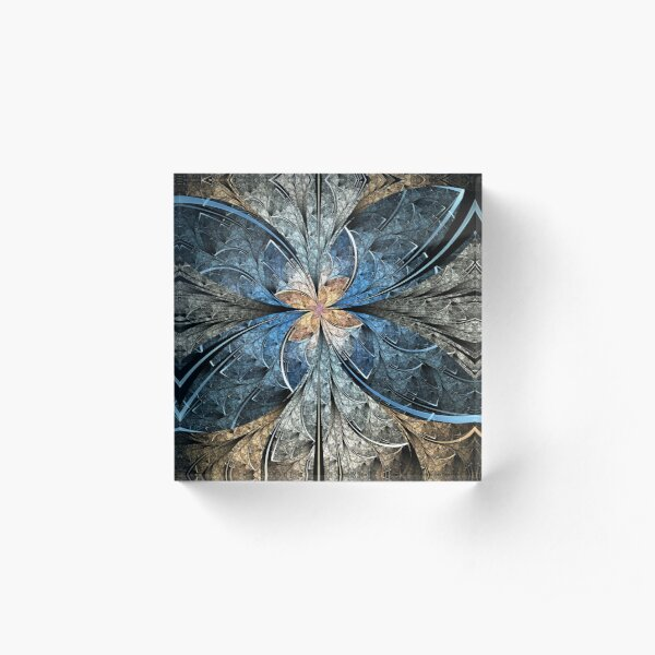 Elliptic Butterfly Acrylic Block