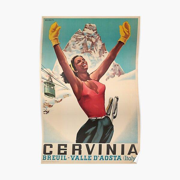 Cervinia, Breuil - Valle d'Aosta ,Italy, Ski Poster Poster