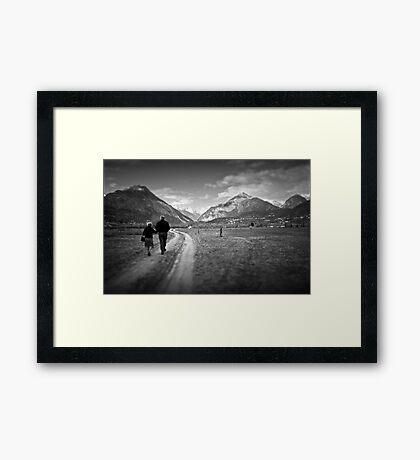 Walking together Framed Print