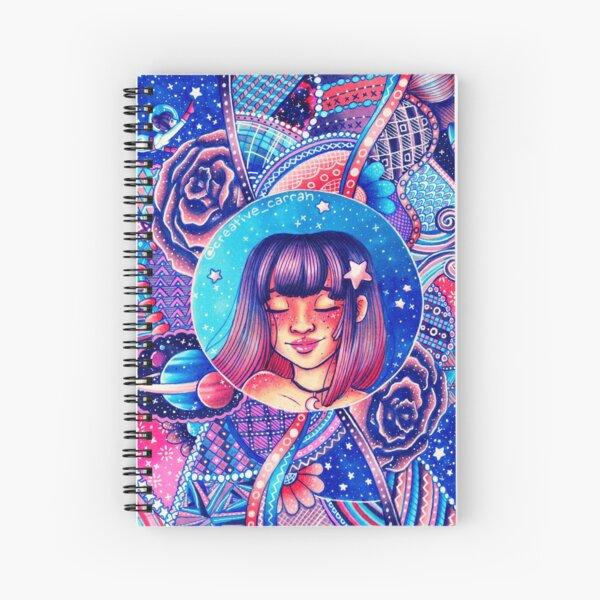Swirling Universe Spiral Notebook