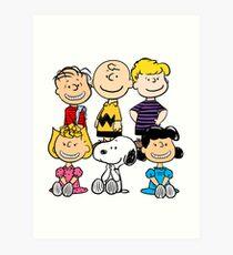 Peanuts - Charlie Brown, Snoopy Art Print