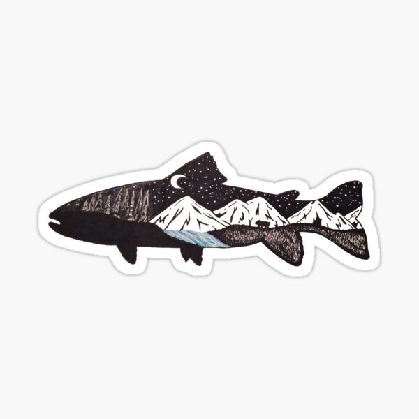 Mountain Trout Sticker