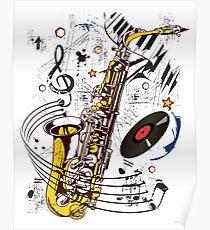 Sax Tunes Poster