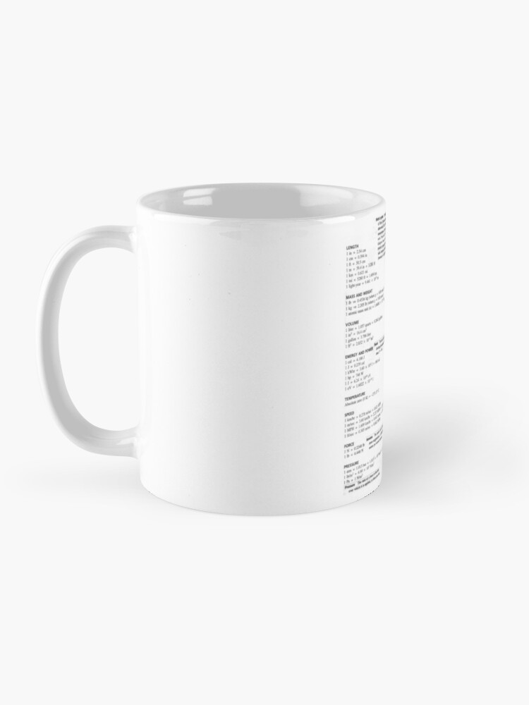 Alternate view of General Physics Conversion Factors #General #Physics #Conversion #Factors #GeneralPhysics #ConversionFactors Mug