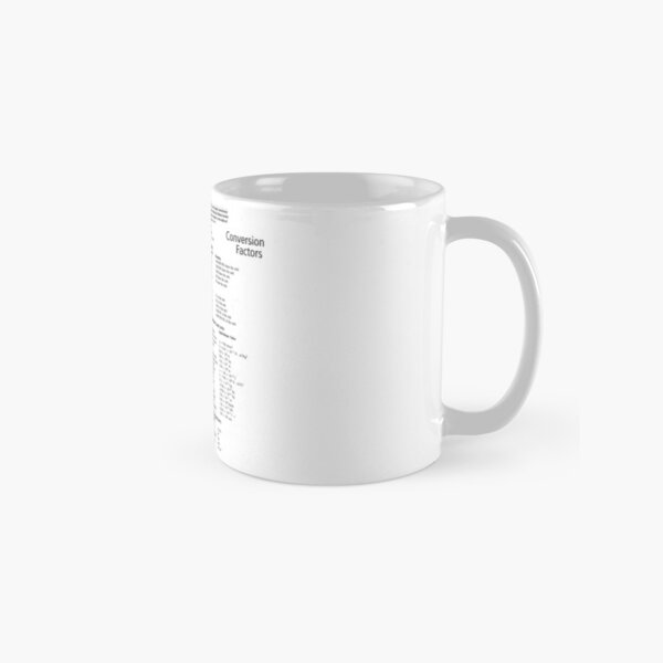 General Physics Conversion Factors #General #Physics #Conversion #Factors #GeneralPhysics #ConversionFactors Classic Mug