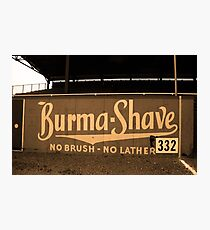 Baseball Field & Burma Shave Sign Photographic Print