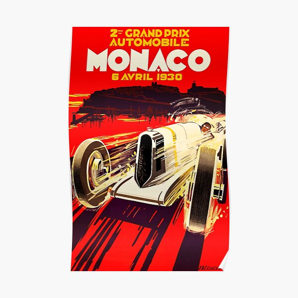 Monaco Grand Prix 1930 - Vintage Racing Poster Poster