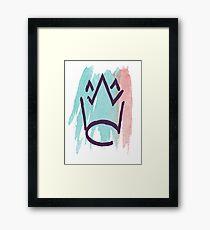 Watercolour Crown Framed Print
