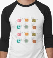 Baby Moo! Oink! Cheep! Meow! Woof! Thump! Men's Baseball ¾ T-Shirt