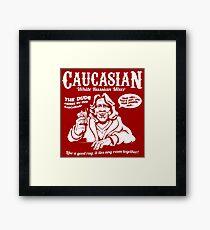 Caucasian Mixer Framed Print