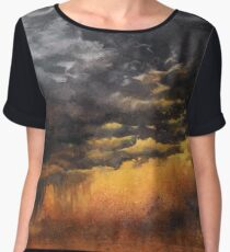 Watercolor Sky No 6 - dramatic storm clouds Chiffon Top