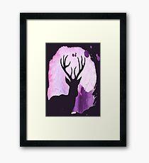 Watercolour Deer Framed Print
