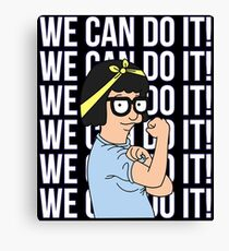 We Can Do It! Tina Belcher The Riveter Canvas Print