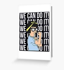 We Can Do It! Tina Belcher The Riveter Greeting Card