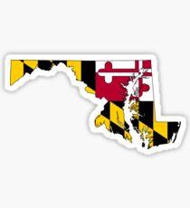 Maryland-Karte Mit Maryland-Staatsflagge Sticker