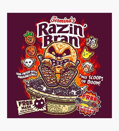 Razin' Bran Photographic Print