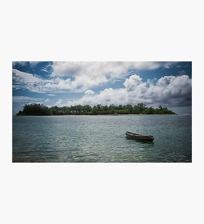 Canoeing at Muri Beach Photographic Print