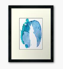 Watercolour Wolf Framed Print