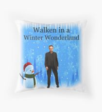 Walken in a Winter Wonderland | Funny Christmas Cards and Gifts with Christopher Throw Pillow