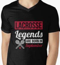 Lacrosse Legends Are Born In September T-Shirt