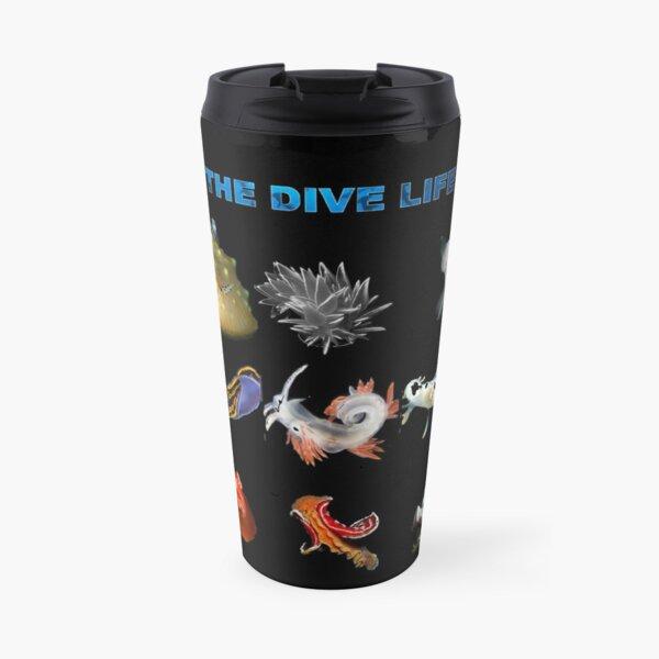 La vida de buceo - Nudibranquio Taza de viaje