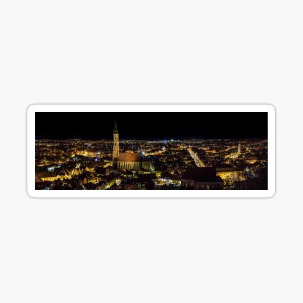 Landshut at night Sticker