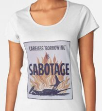 Careless Borrowing Is Sabotage Women's Premium T-Shirt