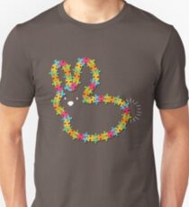 Colorful Jigsaw Baby Bunny with White Nose T-Shirt