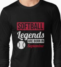 Softball Legends Are Born In September T-Shirt