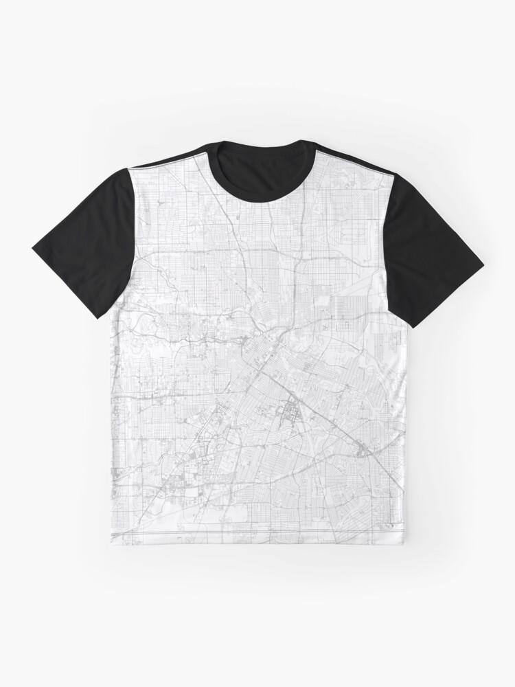 05cb7665 Alternate view of Houston, TX Map Graphic T-Shirt