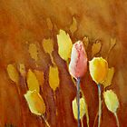 In front of the crowd (Negative painted tulips) by LorusMaver